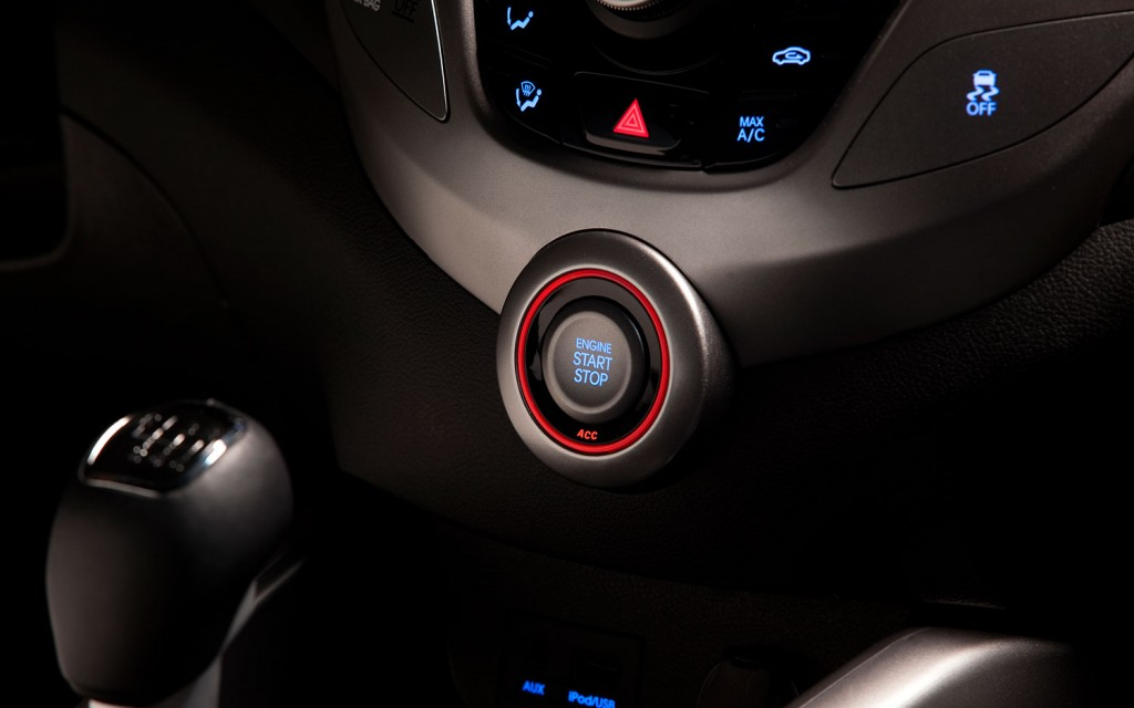 This is the Hyundai Push To Start Button