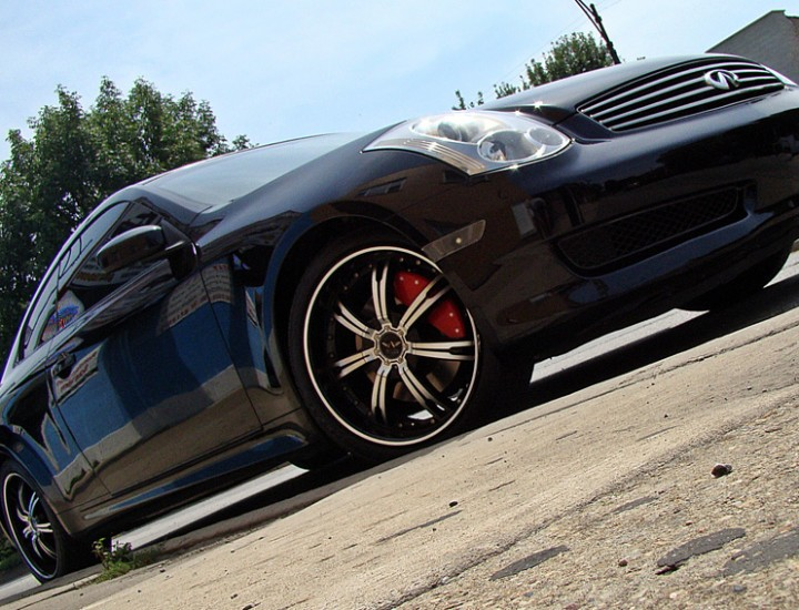 2006 Infiniti G35 Painted MGP Caliper Covers, Rims, and Windows Tinted – Mr. Kustom Chicago