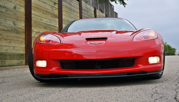 2007ChevyCorvetteRedFrontViewOracleRedHaloLight