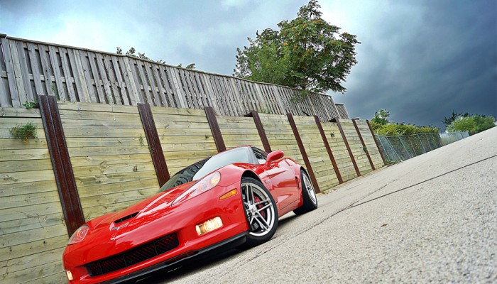 2007 Chevy Corvette Red with Red Oracle Halo