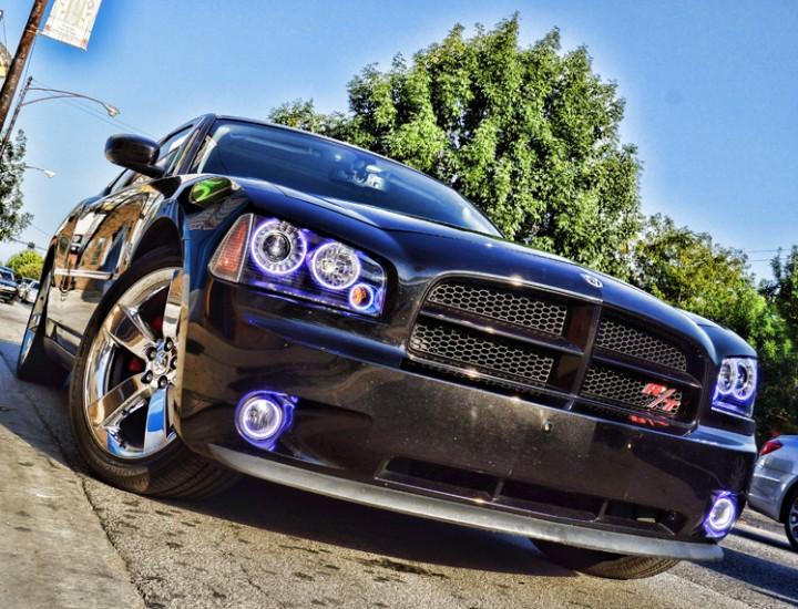 2008 Dodge Charger RT Blue Halo Lights Mr. Kustom Chicago