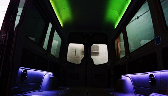 2012MercedesBenzSprinterVanGreenLEDLighting