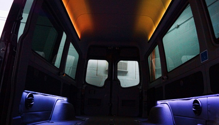 2012MercedesBenzSprinterVanOrangeLEDLighting