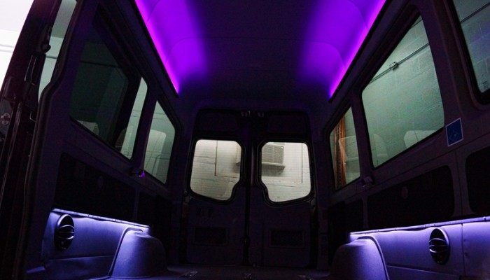 2012MercedesBenzSprinterVanPurpleLEDLighting