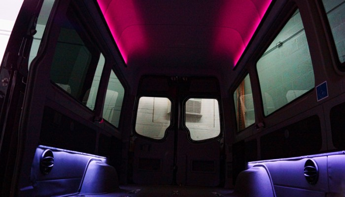 2012MercedesBenzSprinterVanRedLEDLighting
