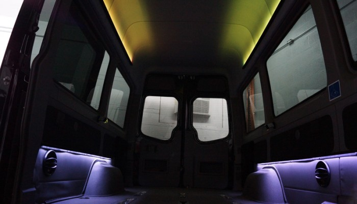2012MercedesBenzSprinterVanYellowLEDLighting