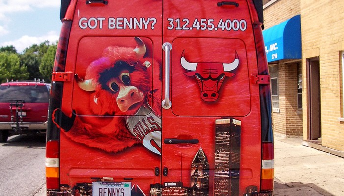 Chicago Bulls Benny the Bull Van - Mr Kustom