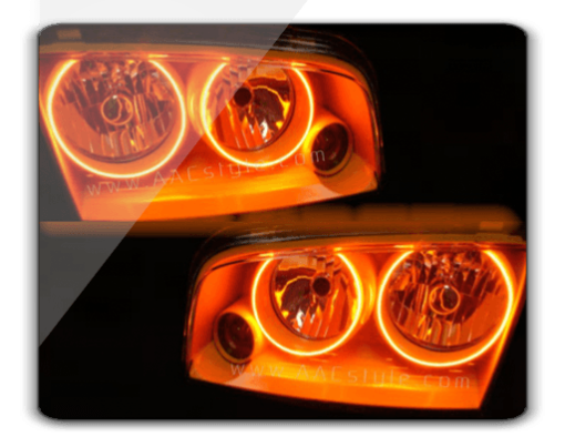 05-10 Dodge Charger AMBER ORACLE Halo Kit