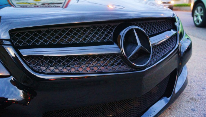 2008 Mercedes Benz SL500 Blacked Out Custom Mesh Grille
