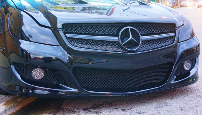 2008 Mercedes Benz SL500 Custom Black Grille and Smoked Headlights
