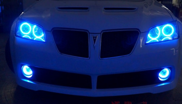 2009 Pontiac G8 Blue Halo Lights