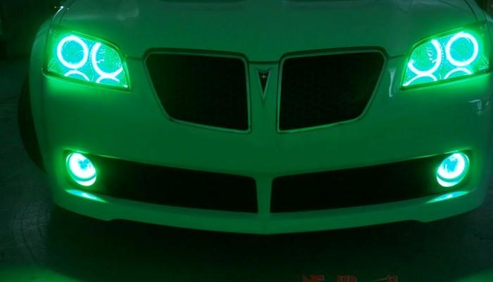 2009 Pontiac G8 Green Halo Lights