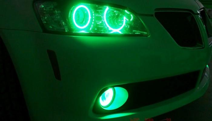 2009 Pontiac G8 Green Halo Rings