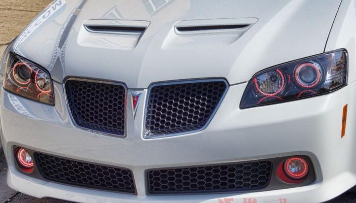 2009 Pontiac G8 Red Halo Headlight Rings