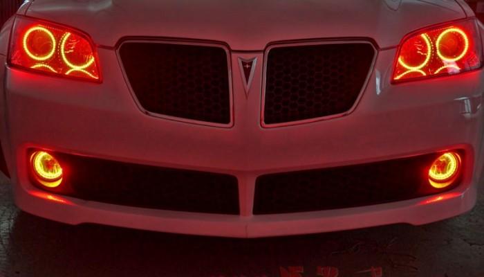 2009 Pontiac G8 Red Halo Lights