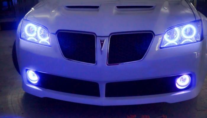 2009 Pontiac G8 White Halo Ring