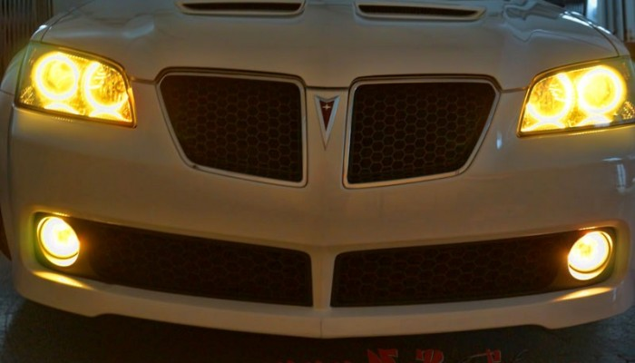 2009 Pontiac G8 Yellow Halo Lights