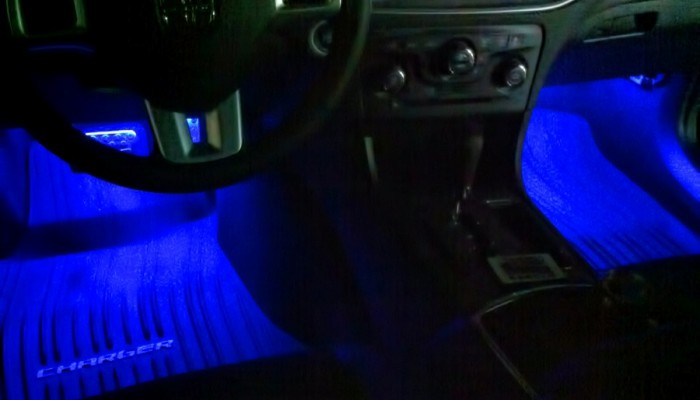 2012 Dodge Charger Blue Oracle Interior Foot well Lights