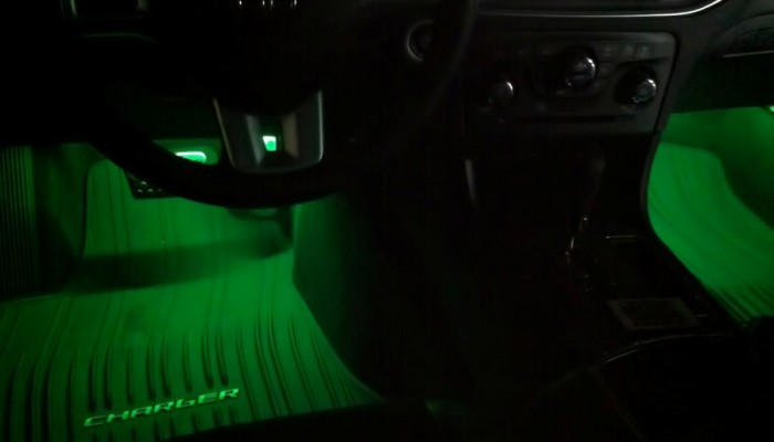 2012 Dodge Charger Green Oracle Interior Foot well Lights