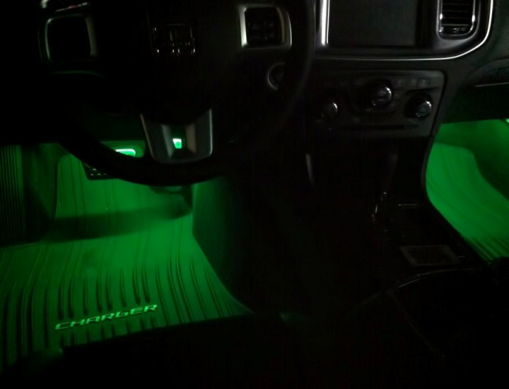 2012 Dodge Charger RT Oracle Interior Foot Well Lighting
