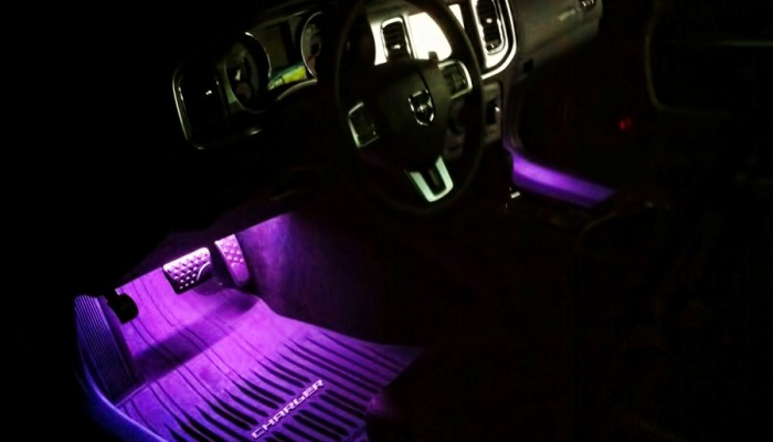 2012 Dodge Charger Purple Oracle Interior Foot well Lights