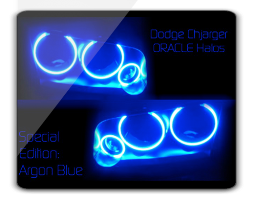Dodge Charger BLUE ORACLE Halo Kit