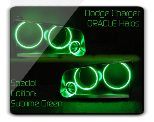 Dodge Charger GREEN ORACLE Halo Kit
