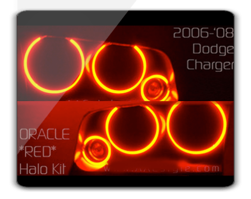 Dodge Charger RED ORACLE Halo Kit