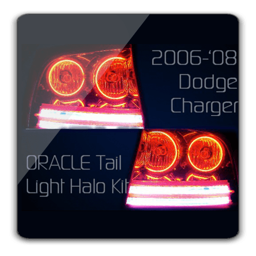 Dodge Charger Tail Lights >> Dodge Charger Oracle Halo Tail Lights Kit 2005 2010