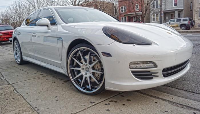 2010 White Porsche Panamera Smoked