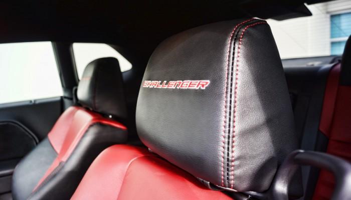 2013 Dodge Challenger Custom Headrest Leather Interior Logo