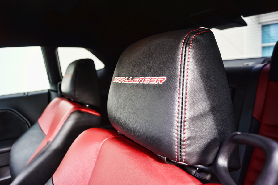 Headrest embroidery