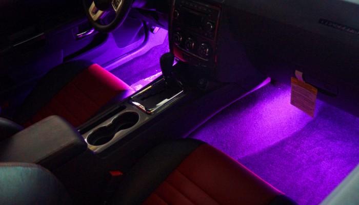 2013 Dodge Challenger Purple Interior Footwell Lights