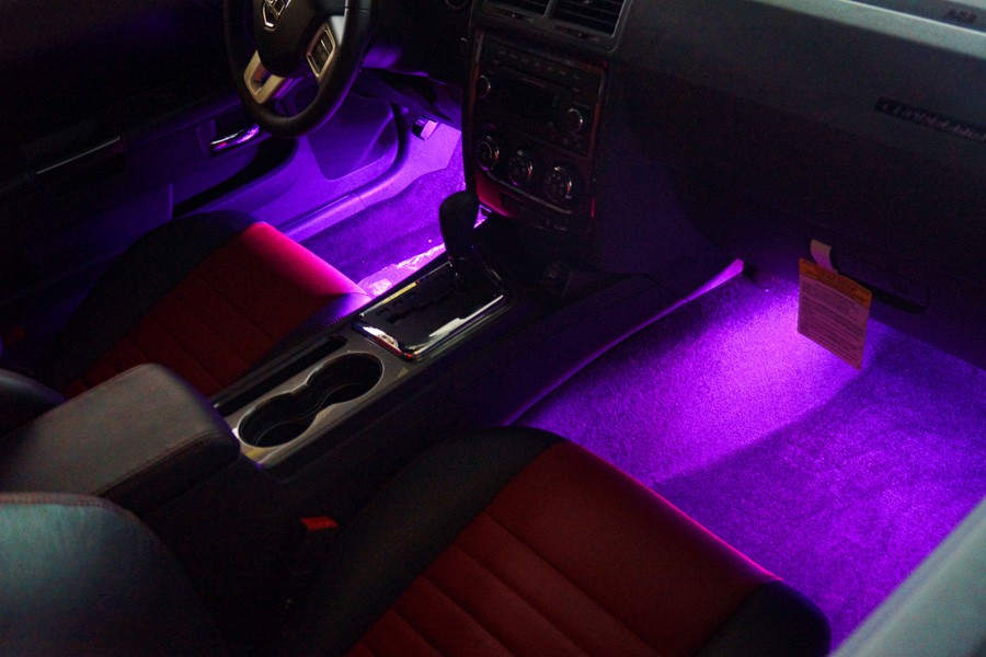 9v 12v bright primrose purple led strip 30cm custom lighting car bike mod ebay. Black Bedroom Furniture Sets. Home Design Ideas
