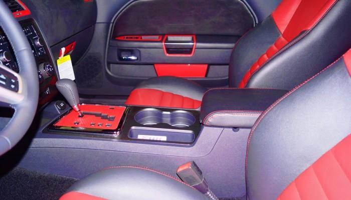 2013 Dodge Challenger Red Carbon Fiber Interior