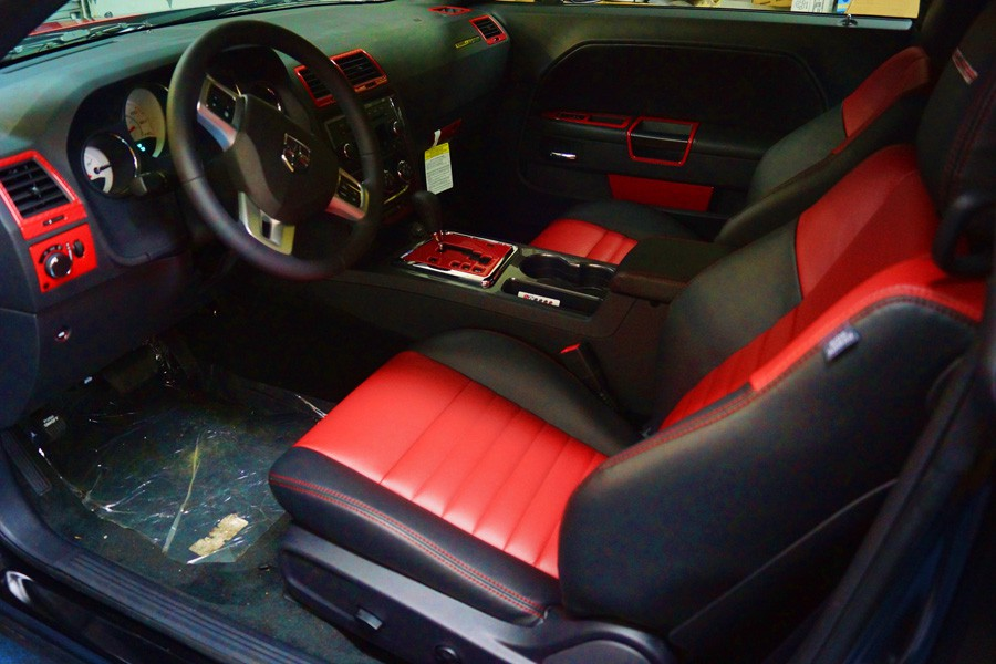 2013 Dodge Challenger Red Custom Interior