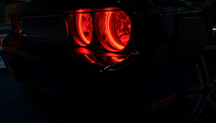 2013 Dodge Challenger Red Halo Headlight Ring