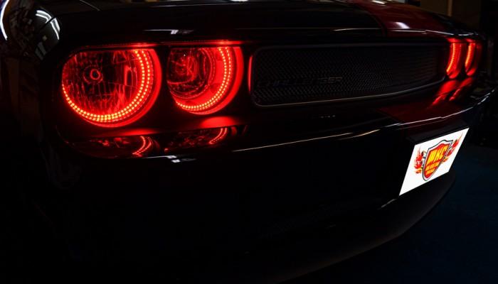 2013 Dodge Challenger Red Halo Headlights