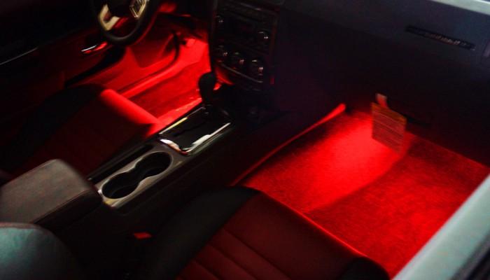 2013 Dodge Challenger Red Interior Footwell Lights