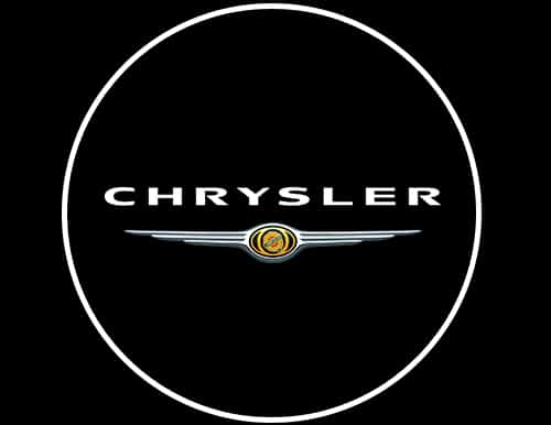 chrysler led door projector courtesy puddle logo lights