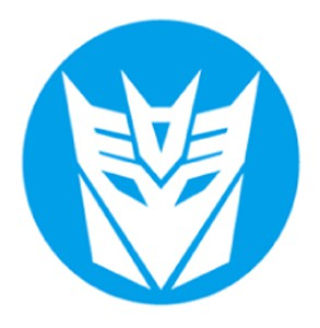 Decepticon LED Logo Door Projector Lights Blue