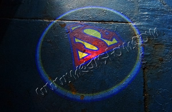 Superman Door Projector Courtesy Puddle Logo Lights