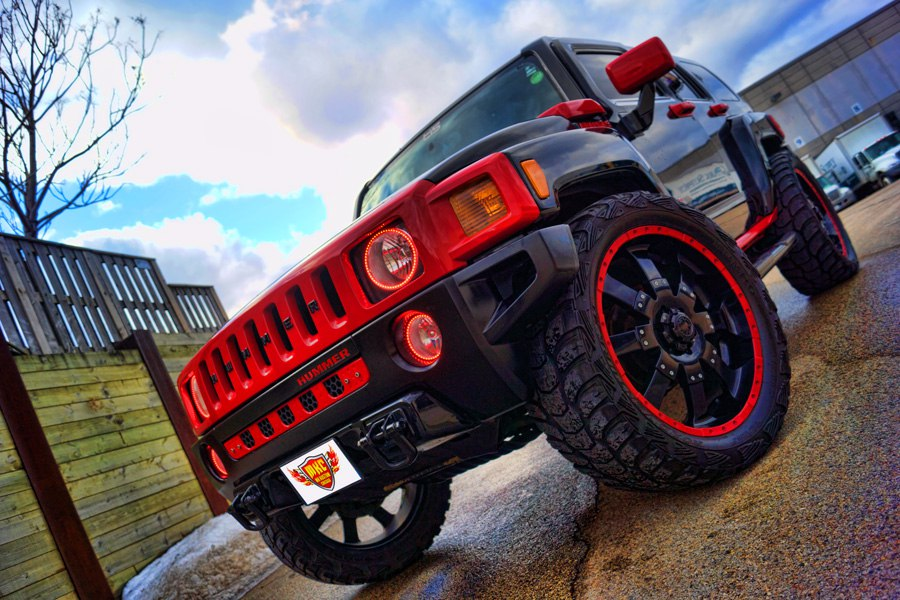 Hummer H3 Dual Color Oracle Halo Headlight Rings