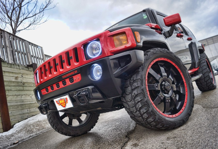 Hummer H3 White Halo Headlight Rings