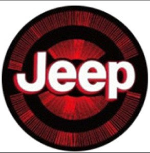 Jeep Led Door Projector Courtesy Puddle Logo Lights Red