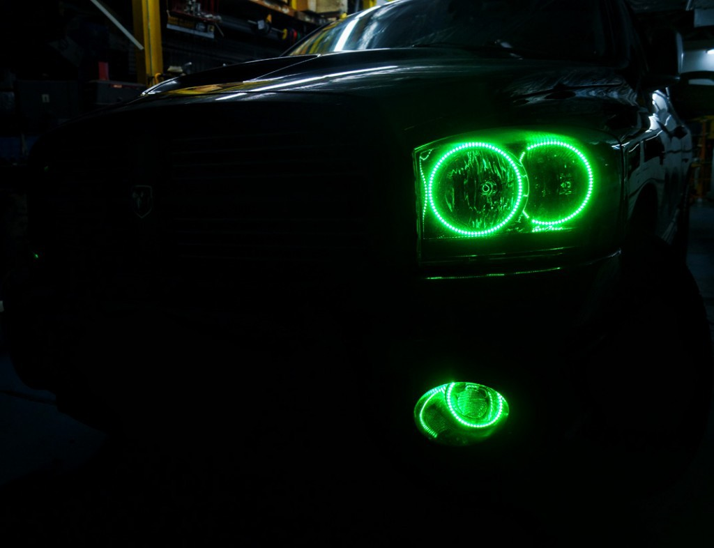 2006 Dodge Ram Multi Color Oracle Halo Headlights & Fog ...