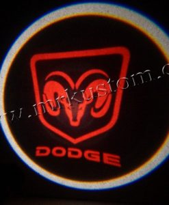 Dodge LED Courtesy Logo Projector Lights Red