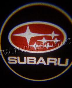 Subaru LED Courtesy Logo Projector Lights Red
