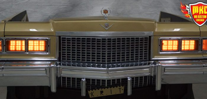 1975 Cadillac Deville Big Krit DJ Booth Orange Headlights
