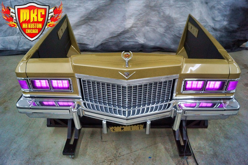 1975 Cadillac Deville Big Krit DJ Booth Purple Headlights